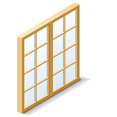 Symbol: Fenstermaterialien
