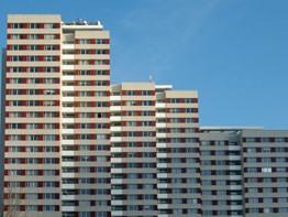 Berliner Fensterfront: Plattenbauten