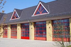 Brandschutzfenster bei der Feuerwehr
