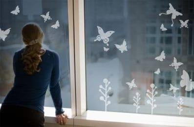 Aufgewerteter Ausblick durch Fensterfolie