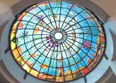 Fensterkuppel - kunstvoll eingefärbt
