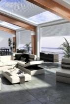 Strandhaus Loft: Rollos für Dachfenster