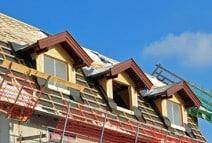 Aufbau des Dachstuhls