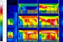 Ein Blick auf dasWärmebild zeigt wo Energie verloren geht