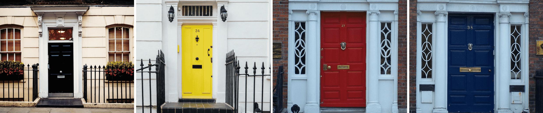 Bunte Türen prägen das Stadtbild von Dublin